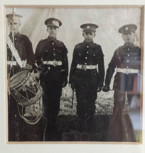 Alfonso Neal (Popsie) is second from the left.  He is in the Boys Brigade just after WW1.